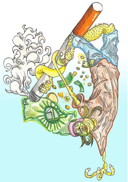 Cigarette Invert Illustration