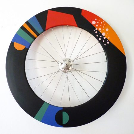 Custom carbon disc wheel designed by Juliane Borths