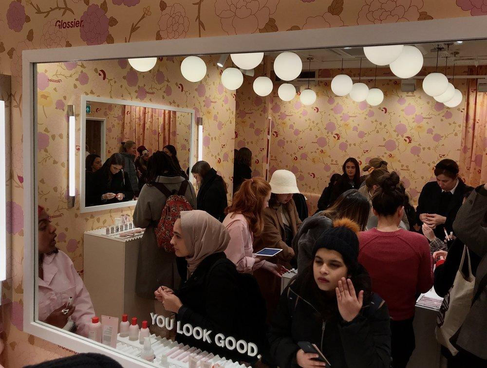 customers in Glossier London
