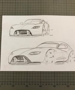 drawing of the concept car