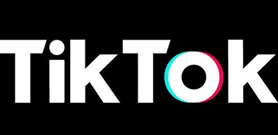 The Tik Tok logo, in black with white font.