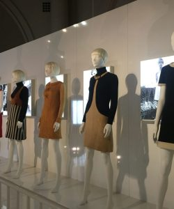 A row of mannequins showcasing some of Quant's classic designs