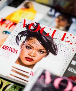 Rihanna on the front cover of Vogue