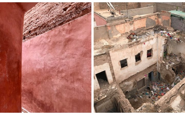 Images of Morocco that show both the beauty and the ugly. Overarching color is red