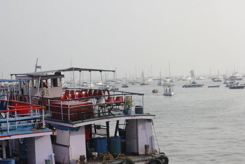 boat in Mumbai's promenade