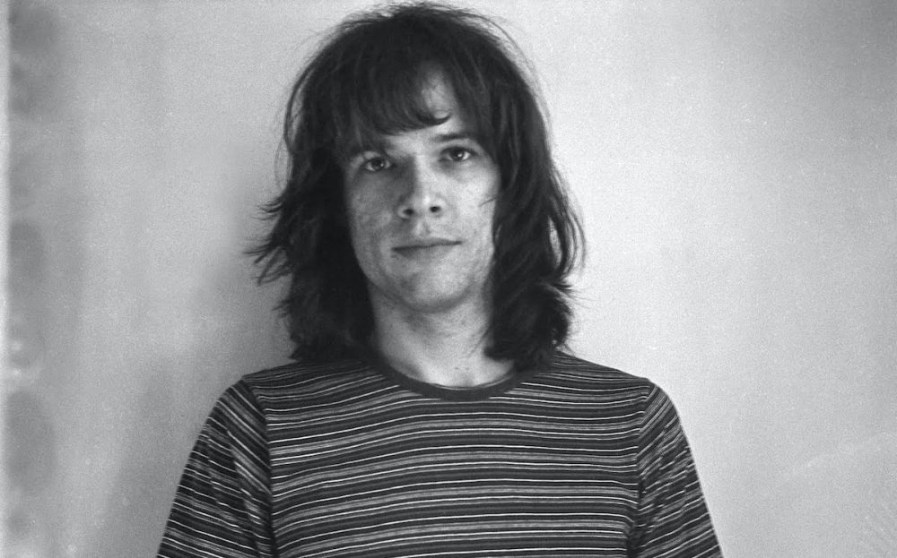Black and white photograph of musician