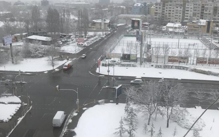 Snow in Sofia