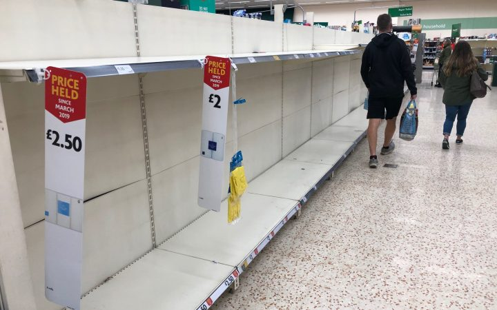 Toilet rolls sold out