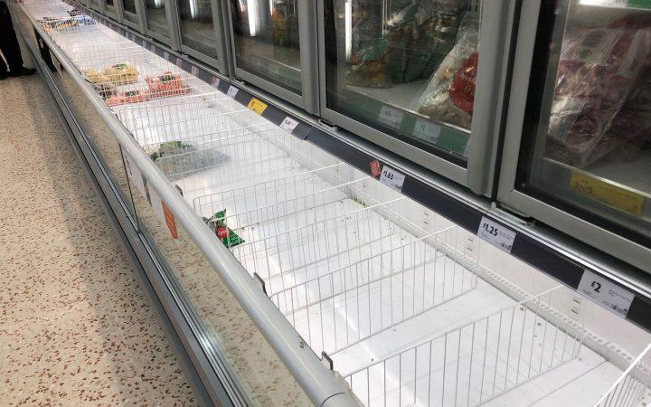 Empty freezers