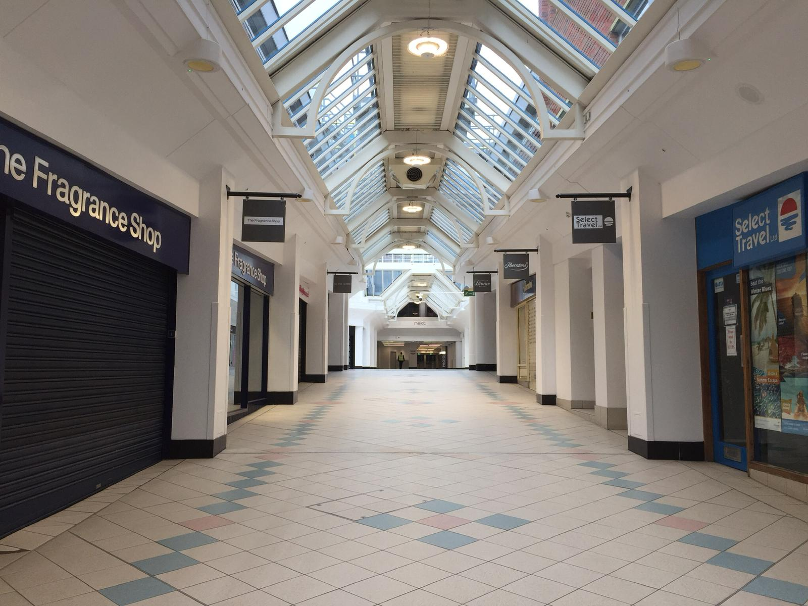 Closed shopping mall