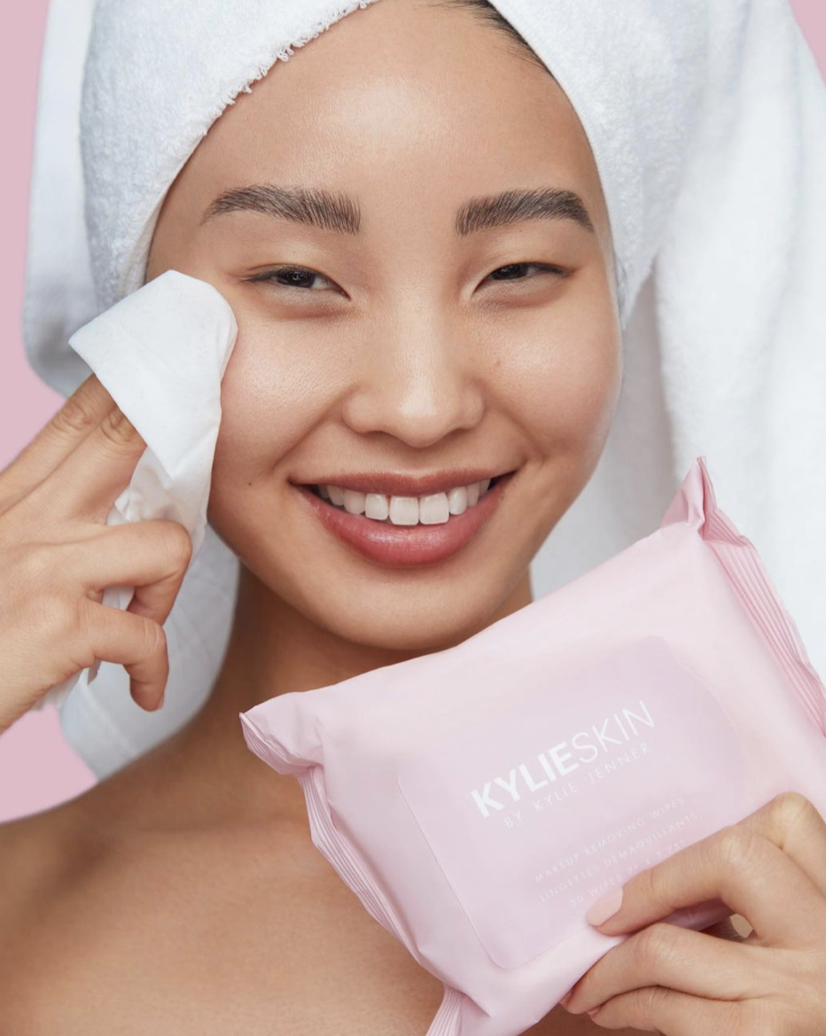 Kylie Skin face wipes
