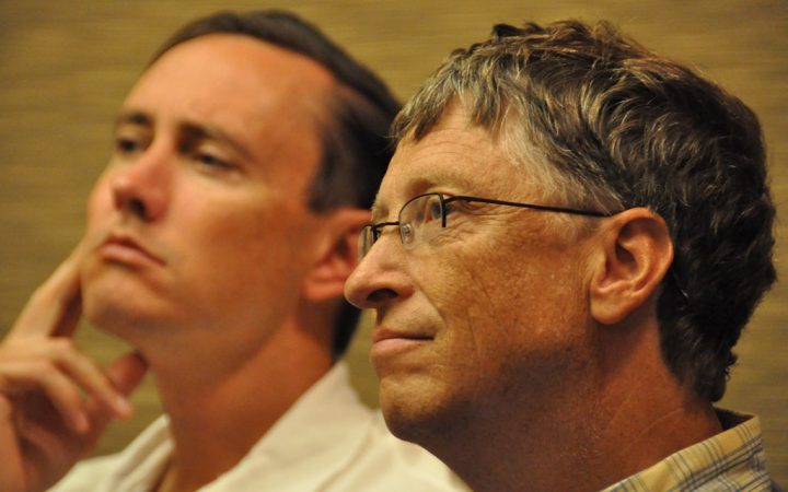 Bill Gates and man