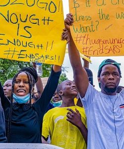 #ENDSARS Protesters in London