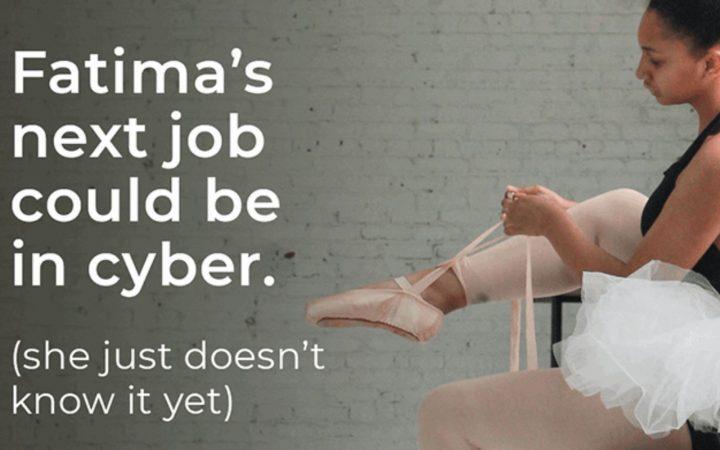 The campaign ad featuring Fatima as a ballerina