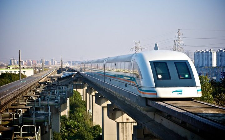 The Shanghai maglev train