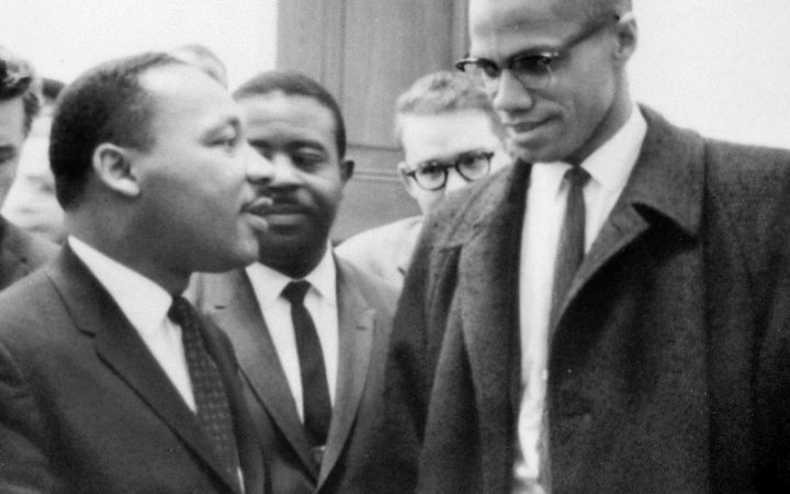 Malcolm X meets Martin Luther King