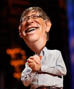 Bill Gates Caricature