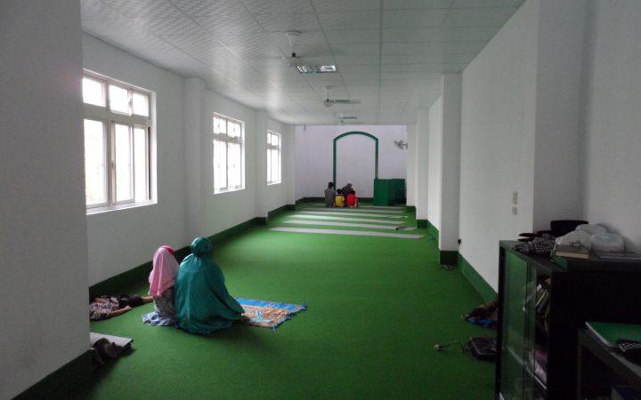 showing empty prayer hall