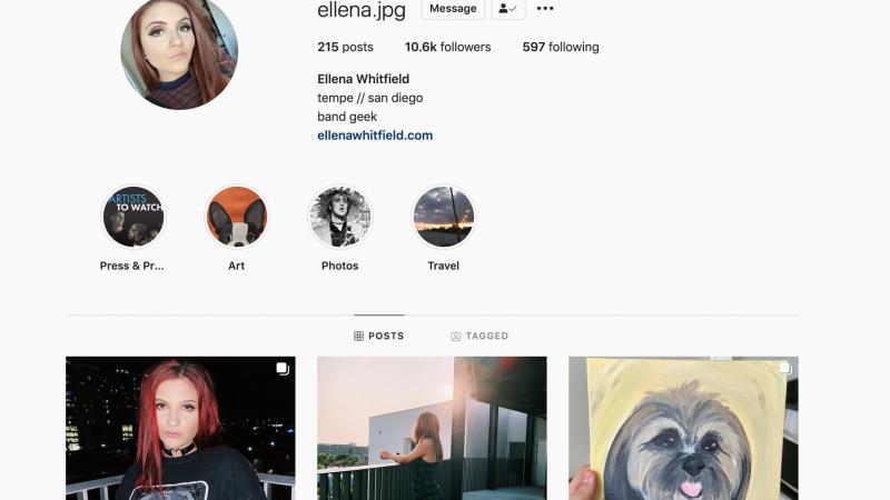 Ellena's Instagram