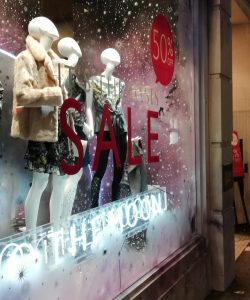 OASIS shop window from last year's Black Friday sale