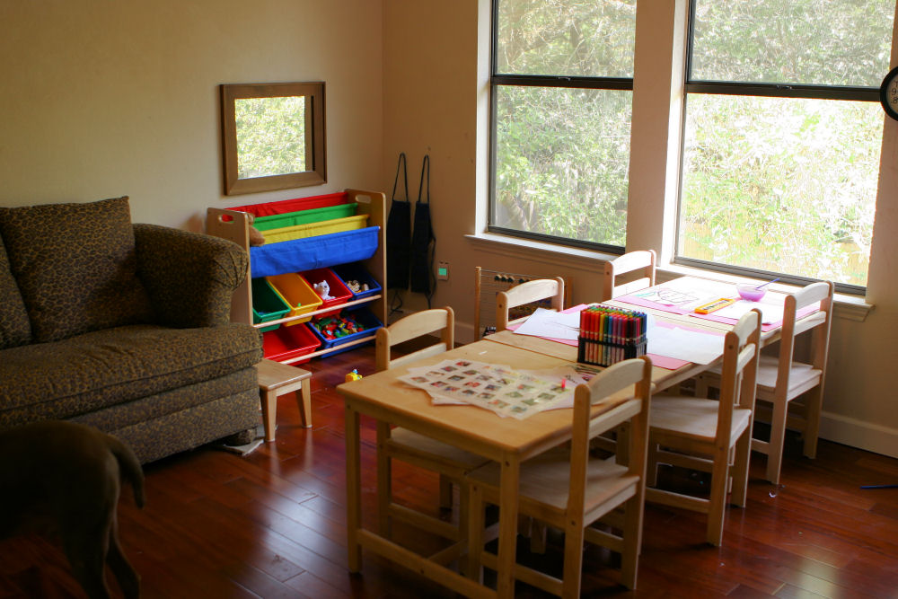 Not all children have a work station like this at home