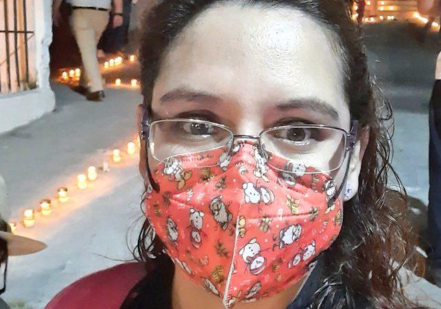 Margarita Alonzo wearing a mask