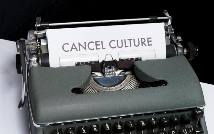 Image writing cancel culture with typewriter. By markus119 on Flickr