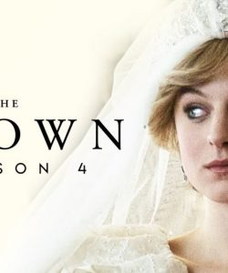 Poster of Netflix The Crown featuring Emma Corrin as Princess Diana