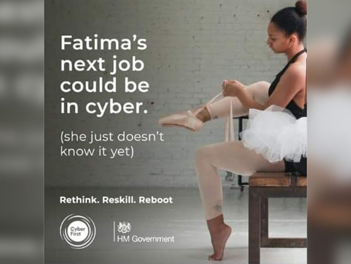 The government has been heavily criticised for an advert, encouraging people in the arts to retrain in cyber (National Cyber Security Centre)