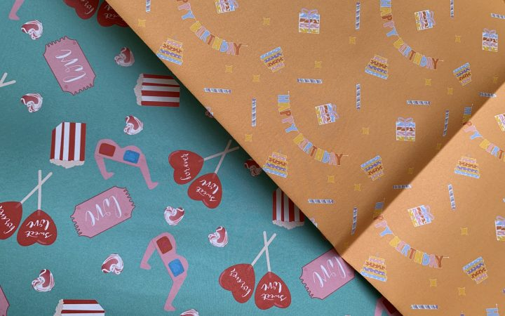 Sweet love and Zest for Life wrapping paper