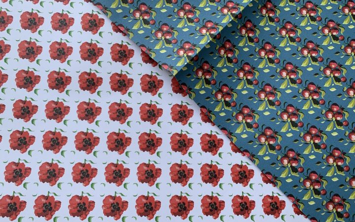 Remembering Roy and Punnet of Plums wrapping paper