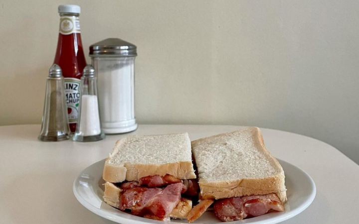 A bacon sandwich from Norman's