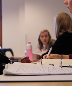 Photograph of a student in a classroom. Image by elinerijpers.
