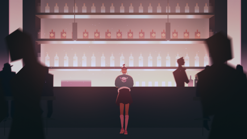 image of an OFK member in a bar