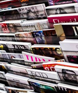 A picture of a magazine rack