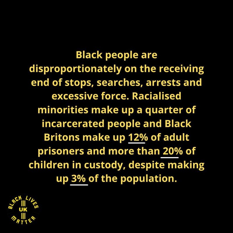 Information released by BlackLivesMatterUK in response to HMIC report on the use of police powers.