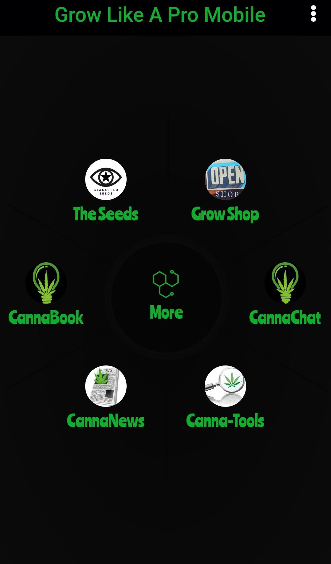 Image of the Grow Like a pro app set-up