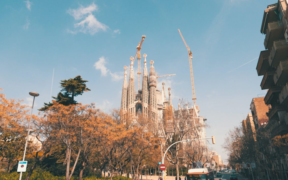 A street view of the Sagrada Familia. Image by Nomadic Julien on Unsplash.